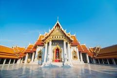 Marble Temple (Wat Benchamabophit Dusitvanaram) Ba. Beautiful Thai Temple Wat Benjamaborphit, temple in Bangkok, Thailand Stock Photography