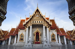 Marble Temple (Wat Benchamabophit Dusitvanaram), major tourist attraction, Bangkok, Thailand. Stock Photo