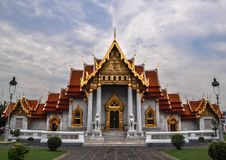 Marble Temple (Wat Benchamabophit Dusitvanaram), tourist attract Stock Photography