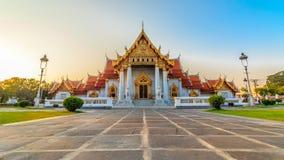 The Marble Temple, Wat Benchamabopit Dusitvanaram in Bangkok, Th Stock Photos