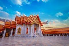 The Marble Temple, Wat Benchamabopit Dusitvanaram in Bangkok, Thailand Stock Photo