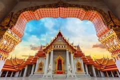 The Marble Temple, Wat Benchamabopit Dusitvanaram in Bangkok Royalty Free Stock Images