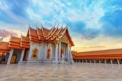 The Marble Temple, Wat Benchamabopit Dusitvanaram in Bangkok Royalty Free Stock Photography