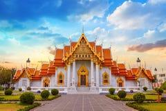 The Marble Temple, Wat Benchamabopit Dusitvanaram in Bangkok Stock Photo