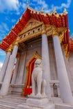 The Marble Temple, Wat Benchamabopit Dusitvanaram in Bangkok Stock Images