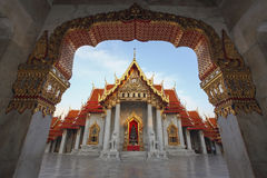 The Marble Temple, Wat Benchamabopitr Dusitvanaram Royalty Free Stock Images