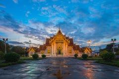 Marble Temple,Wat Benjamaborphit. Blue sky stock photography