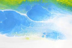 Marble texture. Acrylic colors blots. Abstract background stock images