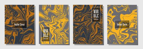 Marble texture binder cover layout Royalty Free Stock Images