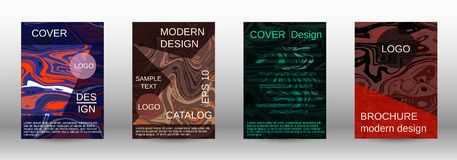 Marble texture covers set. royalty free illustration