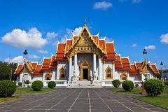 Marble Thai temple with blue sky Stock Image