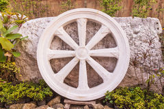 Marble Thammachak (Wheel of Dhamma) , symbol of Buddhism Royalty Free Stock Image