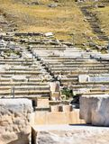 Marble throne on Acropolis. Royalty Free Stock Photos