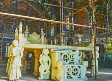 The marble throne of Golestan, Tehran Royalty Free Stock Image