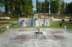 The Marble Throne hall in Mini Siam Park Royalty Free Stock Photography