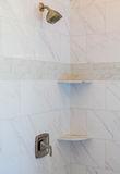 Marble Tile Shower Royalty Free Stock Images