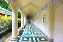 Marble tile walkway to style china. At taiwan Stock Images