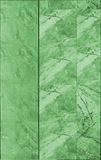 Marble tile wall texture in green Stock Images