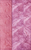 Marble tile wall texture in pink color Royalty Free Stock Photo