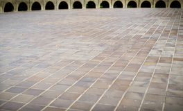 Marble tiled floor and backgroung photo outdoor. Marble tiled floor and backgroung photo Royalty Free Stock Image
