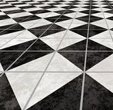 Marble tiled floor flooring  Royalty Free Stock Photo
