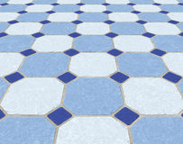 Marble tiled floor tiles Stock Images