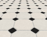 Marble tiled floor tiles Royalty Free Stock Images