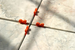 Marble Tiles 1. New marble floor setting stock image