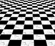 Marble tiles. Floor, black and white Royalty Free Stock Image