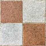 Marble Tiles. Square texture of four marble white and brown tiles Stock Images