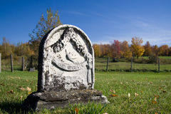 Marble Tombstone. A old marble tombstone from the 19th century stock images