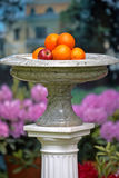 Marble vase with fruits Royalty Free Stock Photos