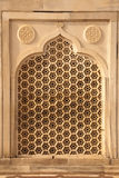 Marble ventilation panel in Taj Mahal Stock Images