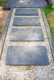 The marble walkway in the park Stock Image