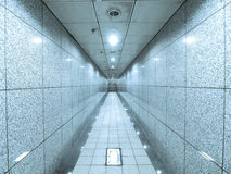 Marble wall and passage way. In underground Royalty Free Stock Photography