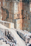 Marble walls in Portuguese quarry near Borba Stock Image