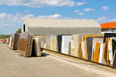 Marble warehouse Stock Photography