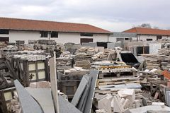 Marble warehouse Royalty Free Stock Photography