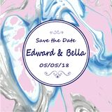 Marble wedding invitation. Hand painted marbling texture abstrac. T background vector illustration