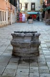 Marble well in calle of Venice Stock Photo
