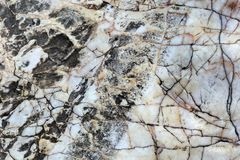 Marble white and brown - background texture Stock Photography