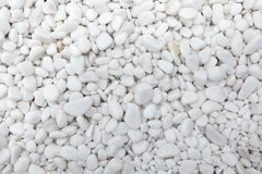 Marble white pebbles. Background texture Stock Photo