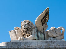 Marble winged lion sculpture Royalty Free Stock Photography