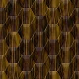 Marble - wood decor - seamless hexagon background Stock Photos