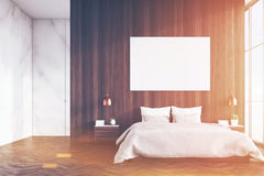 Marble and wooden bedroom, toned Stock Images