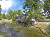 Marble (Palladian) Bridge, or Siberian Marble gallery. Catherine Park. Pushkin. Petersburg Royalty Free Stock Image
