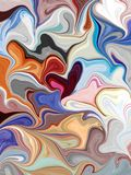 Marbled background design, wavy burgundy beige and green fluid painting illustration, elegant agate rock or stone style modern art royalty free illustration