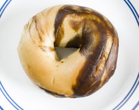 Marbled bagel royalty free stock image