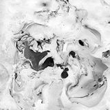 Marbled Black and White Abstract Background. Liquid Marble Illistration. Abstract background. Ink marble texture. Unusual design Royalty Free Stock Image