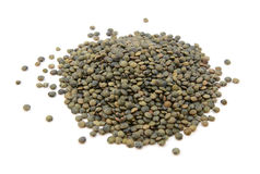 Marbled dark green lentils Royalty Free Stock Image